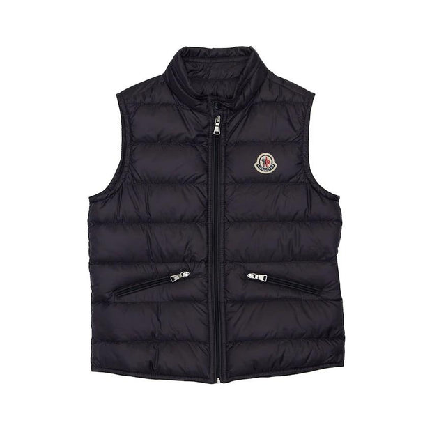 Kids Moncler Navy Bodywarmer Kids Jacket Moncler