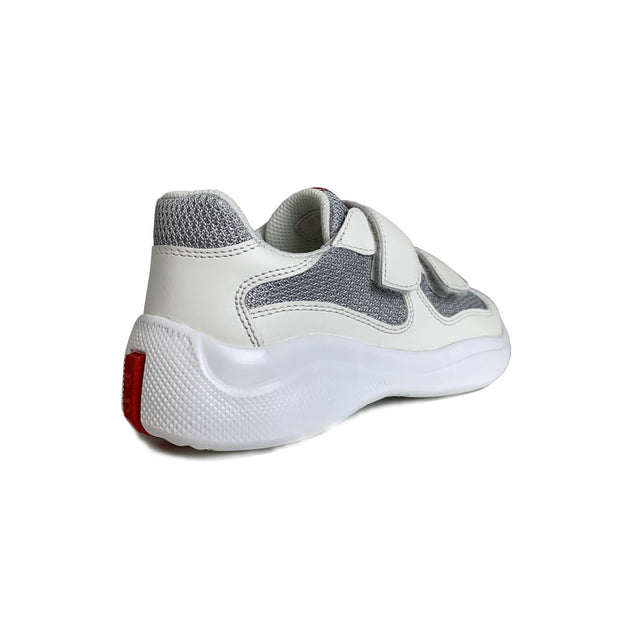 Kids Prada White Leather Americas Cup - DANYOUNGUK
