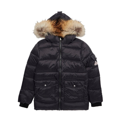 Kids Pyrenex Black Down Fur Jacket Kids Jacket Pyrenex