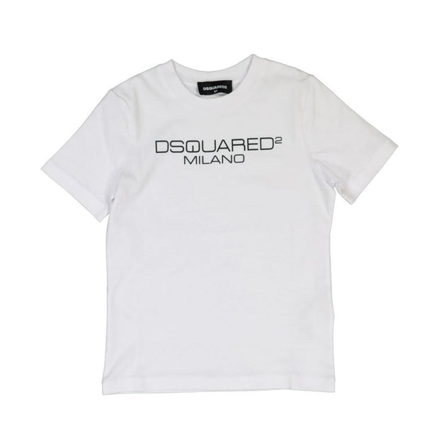 Kids White DSQUARED2 Milano T-Shirt Kids T-Shirt DSQUARED2