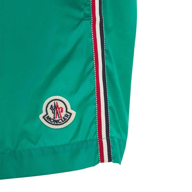 Moncler Green Nylon Swimshorts Swimwear Moncler