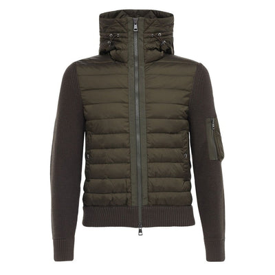 Moncler Khaki Wool Blent Down Jacket - DANYOUNGUK