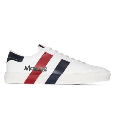 Moncler Montpellier White Leather Sneakers - DANYOUNGUK