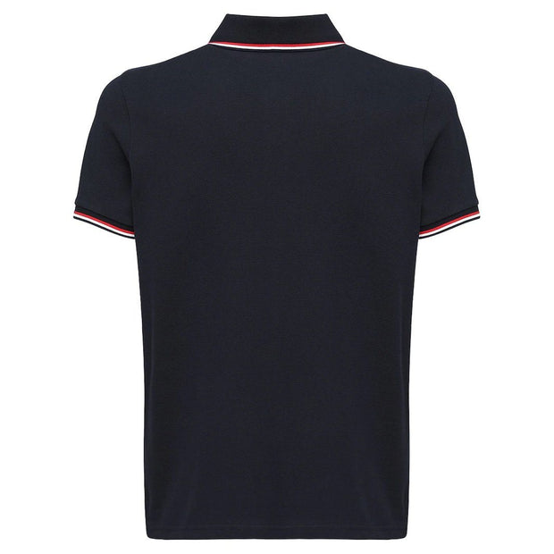 Moncler Navy Cotton Pique Polo Polo Shirt Moncler