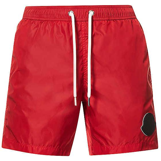 Moncler Red Large Logo Swimshorts Swimwear Moncler