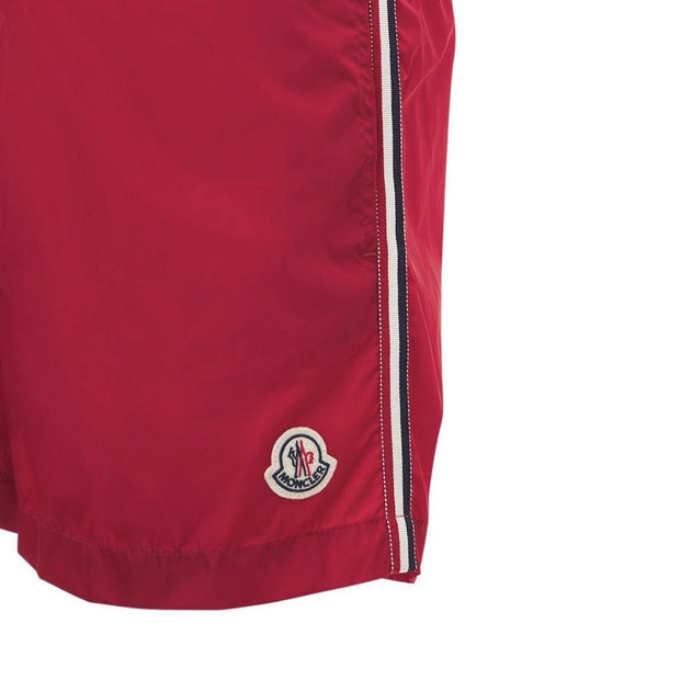 Moncler Red Nylon Swimshorts Swimwear Moncler