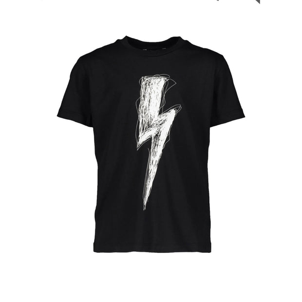 Kids Neil Barrett Black Bolt Tee - DANYOUNGUK