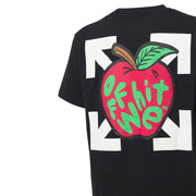 Off-White Black Slim Fit Apple T-Shirt T-Shirt Off-White