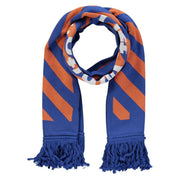 Off-White Blue & Orange Stripe Logo Scarf - DANYOUNGUK