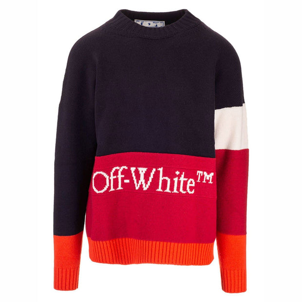 Off-White Colour Block Knit Crewneck Knitwear Off-White