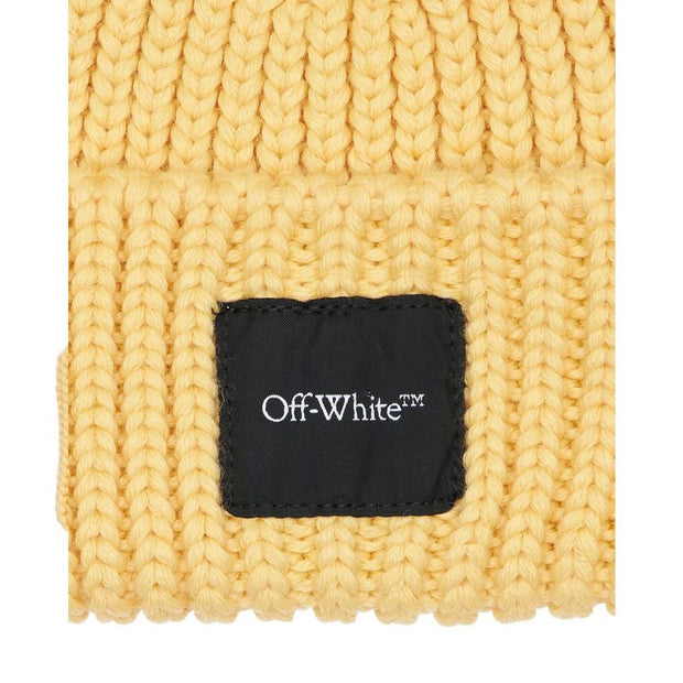 Off-White Logo Label Beanie - DANYOUNGUK