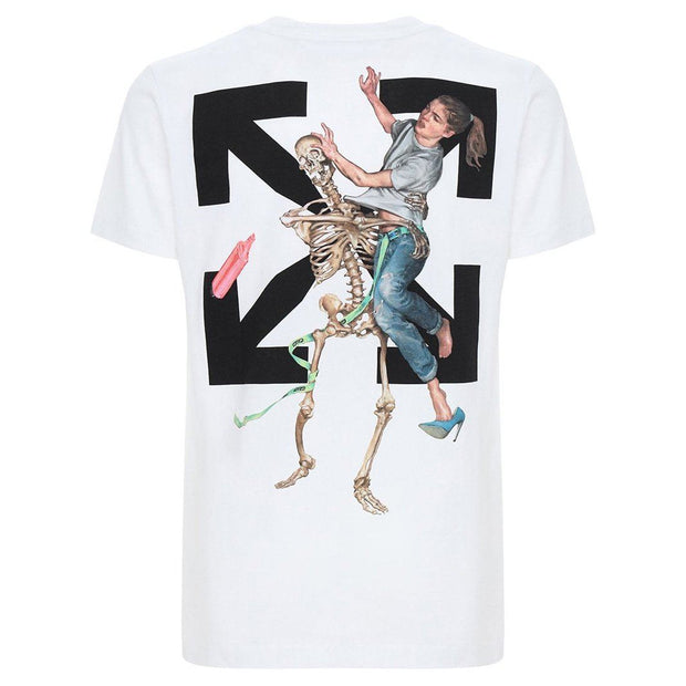 Off-White White Skeleton Tee - DANYOUNGUK