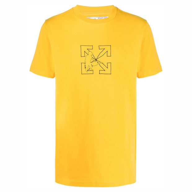 Off-White Yellow Workers T-Shirt T-Shirt Off-White