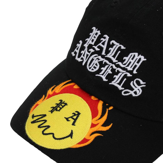 Palm Angels Black Embroidered Cap Cap Palm Angels