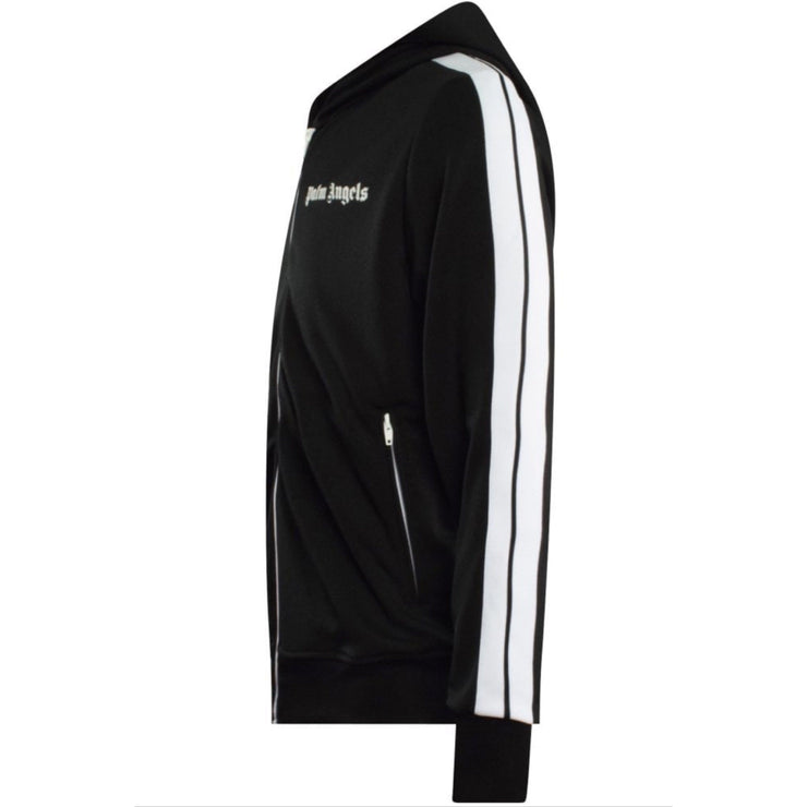 Palm Angels Black Hooded Track Jacket - DANYOUNGUK