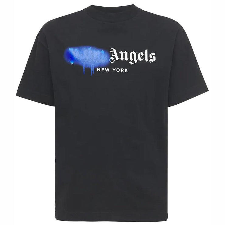 Palm Angels Black New York Spray T-Shirt T-Shirt Palm Angels