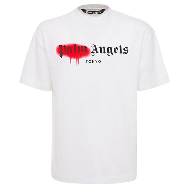 Palm Angels White Tokyo Spray T-Shirt T-Shirt Palm Angels