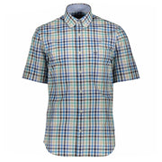 Paul & Shark Checked Short Sleeved Shirt Shirt Paul & Shark