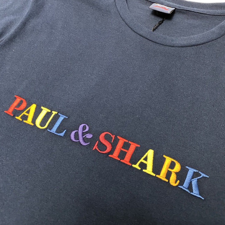 Paul & Shark Navy Logo T-Shirt - DANYOUNGUK