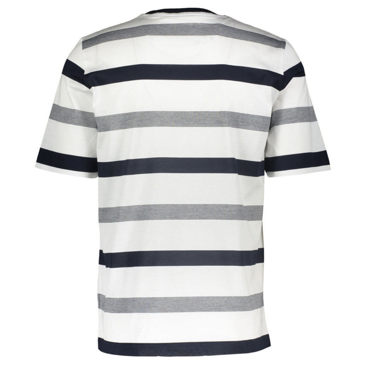 Paul & Shark Navy & White Striped T Shirt - DANYOUNGUK