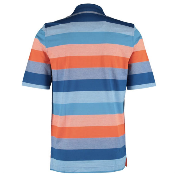 Paul & Shark Orange & Blue Striped Polo - DANYOUNGUK