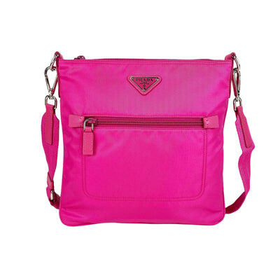 Prada Bright Pink Crossbody Messenger Bag - DANYOUNGUK
