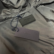 Prada Grey Nylon Windbreaker Jacket Jacket Prada