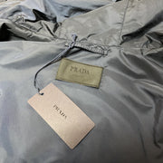 Prada Navy Nylon Windbreaker Jacket Jacket Prada