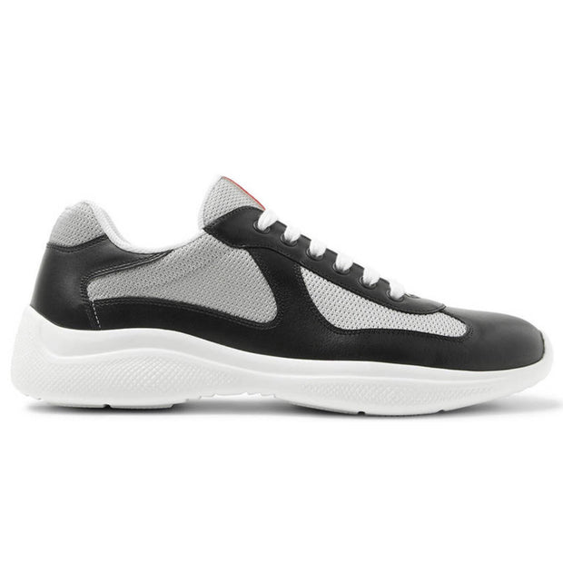 Prada White & Black Leather Americas Cup - DANYOUNGUK