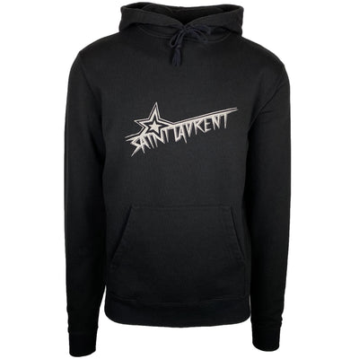 Saint Laurent Black Star Logo Hoodie - DANYOUNGUK
