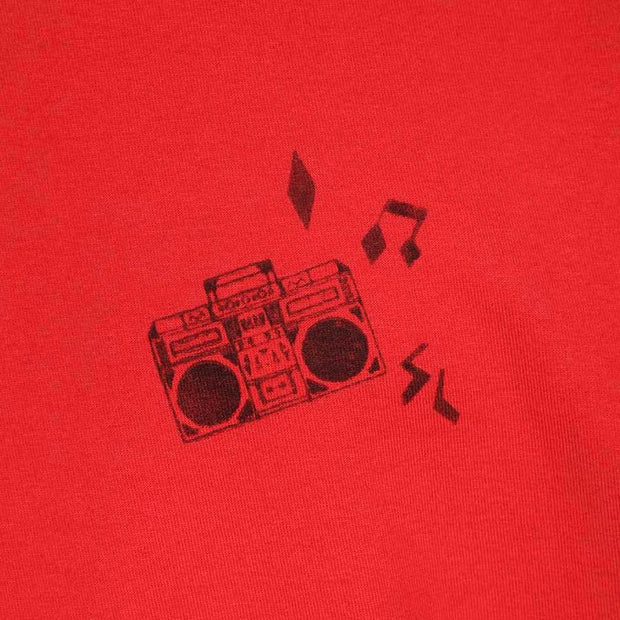 Saint Laurent Red Radio Logo Tee - DANYOUNGUK