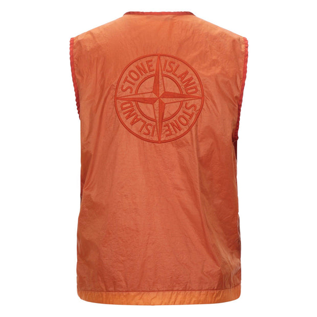 Stone Island Orange Embroidered Logo Vest Bodywarmer Stone Island