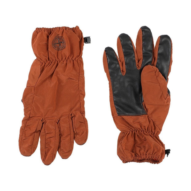 Stone Island Orange Nylon Metal Glove Gloves Stone Island