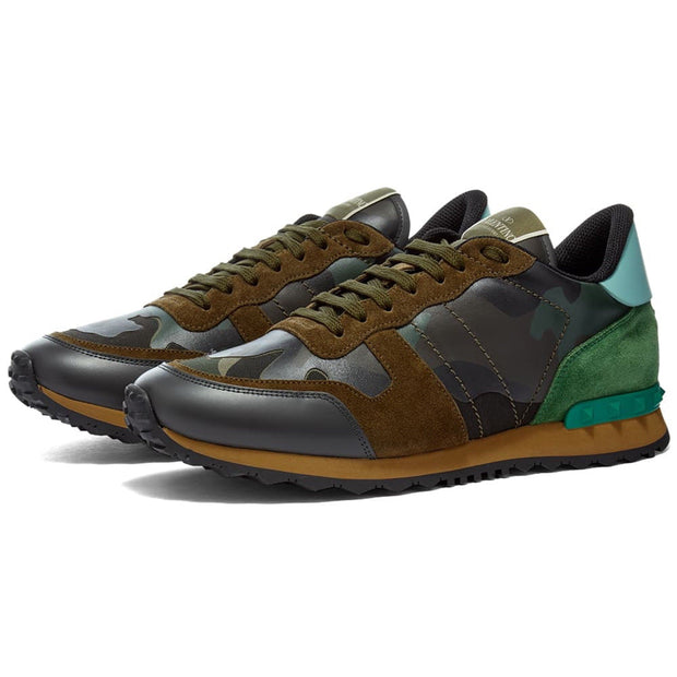 Valentino Army Green Camouflage Rockrunner - DANYOUNGUK