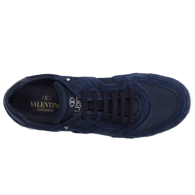 Valentino Navy Rockstud Trainers - DANYOUNGUK