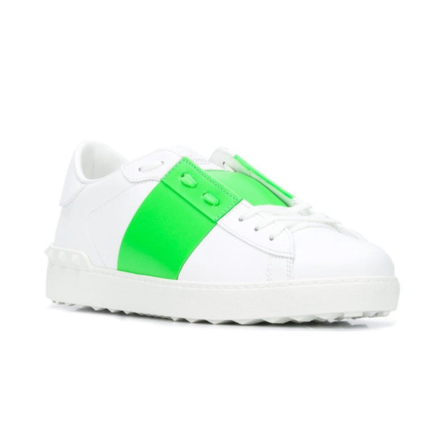 Valentino Open Low White Green Trainers - DANYOUNGUK