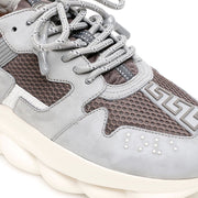 Versace Grey Chain Reaction Trainers Versace
