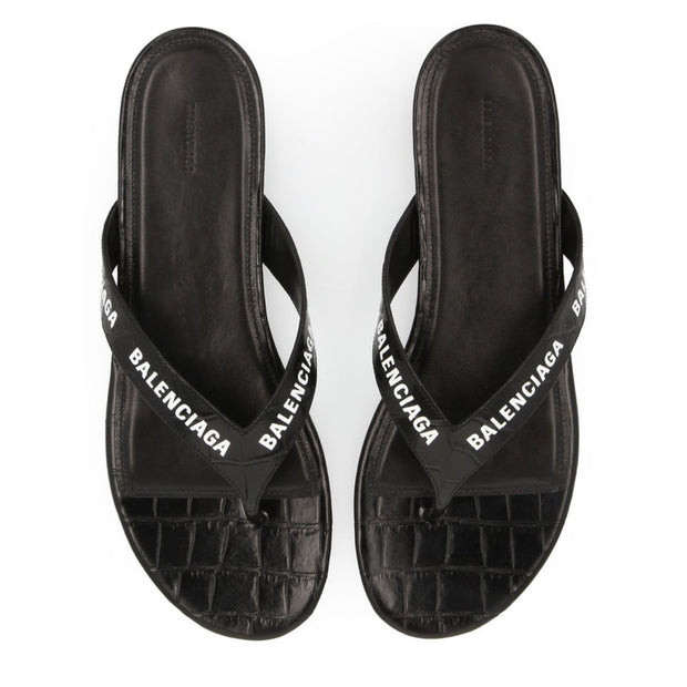 Womens Balenciaga Croc Effect Sandals Womens Sliders Balenciaga