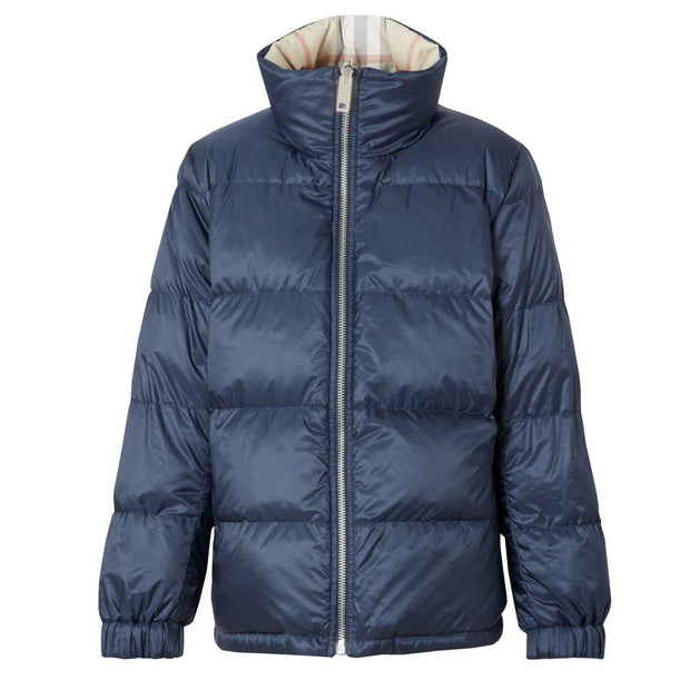 Womens Burberry Reversible Down Navy Coat - DANYOUNGUK