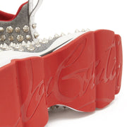 Womens Christian Louboutin Spiky Sock Crystal Studded Trainers - DANYOUNGUK
