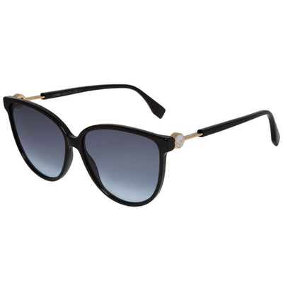 Womens Fendi Black Round Sunglasses Womens Sunglasses Fendi