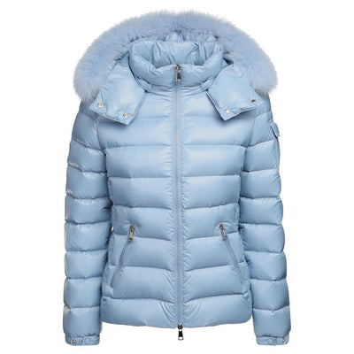 Womens Moncler Nylon Laque fur Down Jacket - DANYOUNGUK