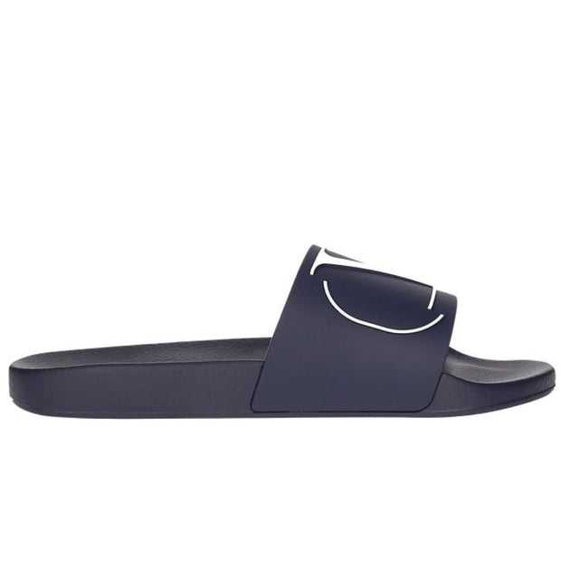 Womens Valentino Navy V Sliders Womens Sliders Valentino