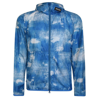 Woolrich Cracked Blue Windbreaker Jacket Woolrich
