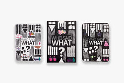Bundle of a WHO SAID WHAT (Card Game) & 2 DOTS Monthly Planner & Notebook 2021 (Plain Pages) 30% OFF and  2 Yearly Calendar for Free