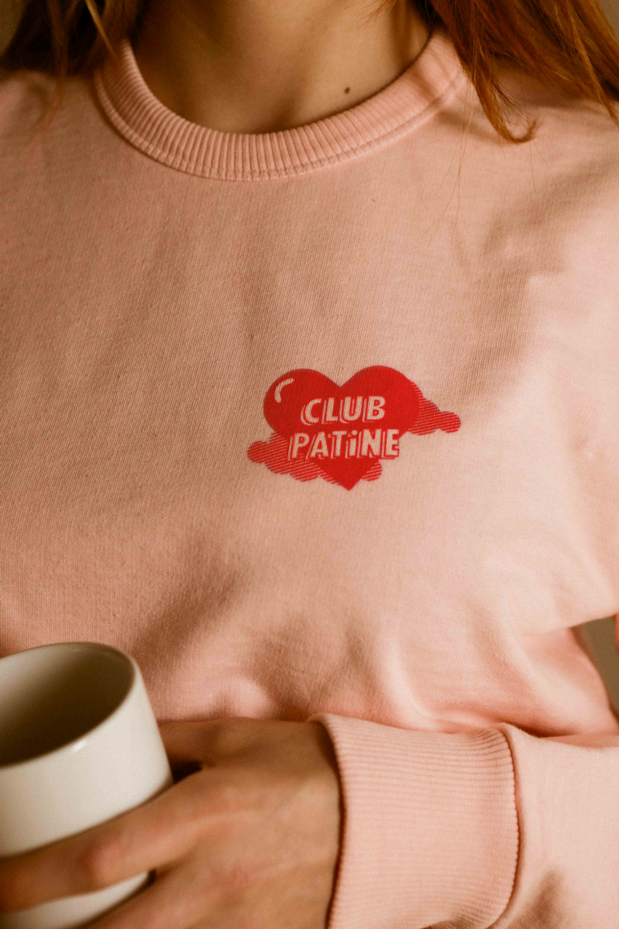 Club PATiNE print rouge sur rose, please join us !!