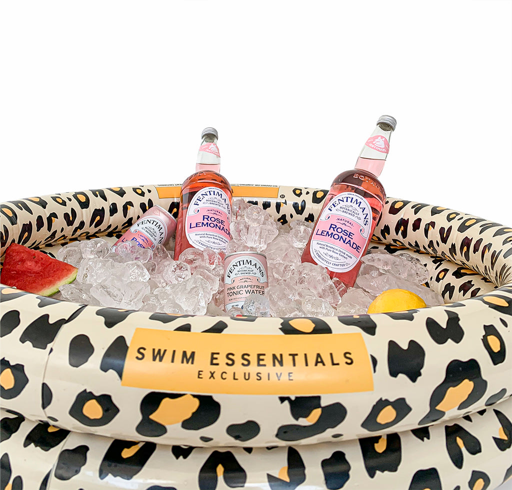 Swim Essentials Drankkoeler Panterprint beige