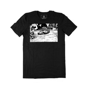 'Night Drifters' Statement Tee (Black)