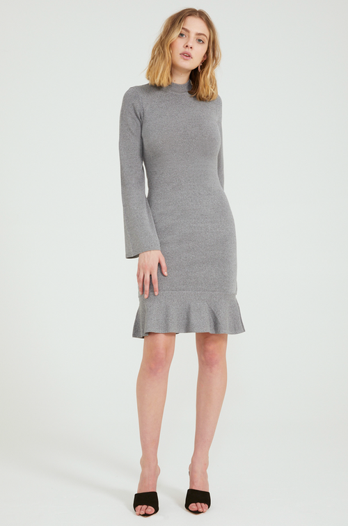 Charm Long Sleeve Knit Dress