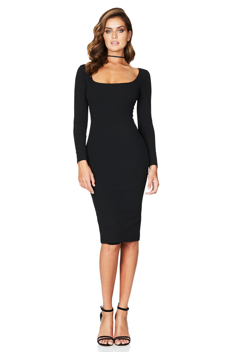 Manhattan Long Sleeve Midi